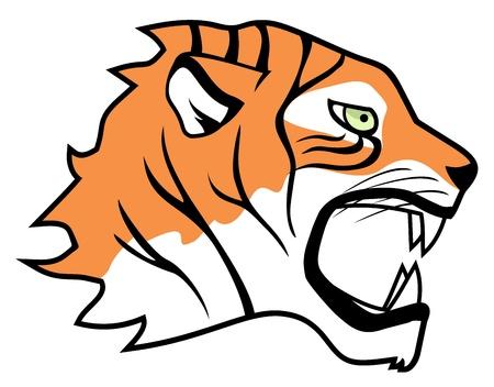Visage de tigre Vecteurs