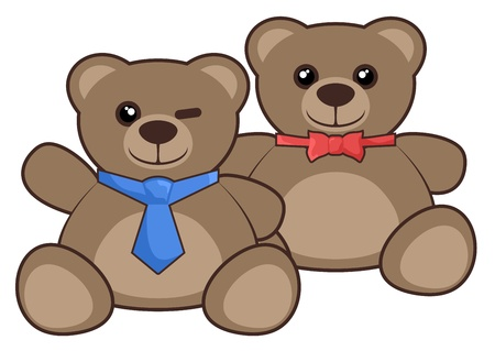 Friends fashion bears Vector