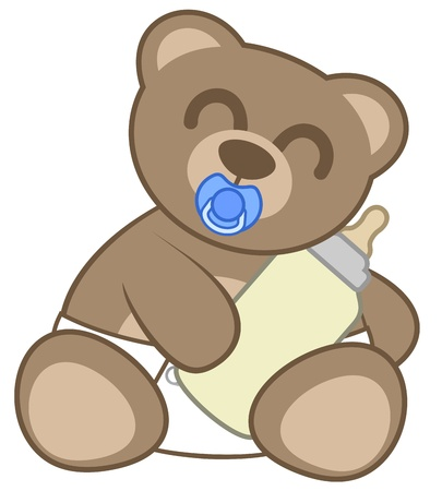 Small nice bear Vector