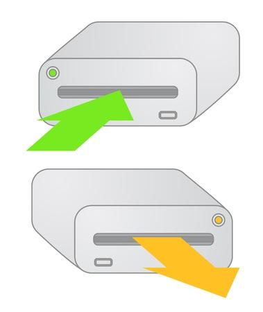 hard: Hard disk Illustration