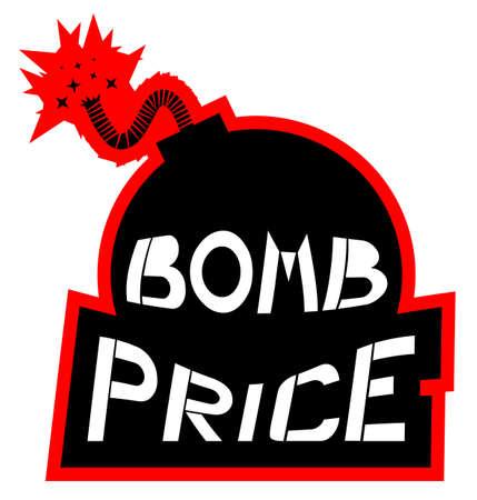 Bomb price draw Stock Vector - 18895071
