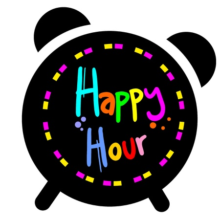 Happy hour Stock Vector - 18895065