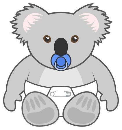 Baby koala Vector