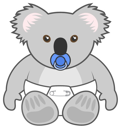 marsupial: Baby koala