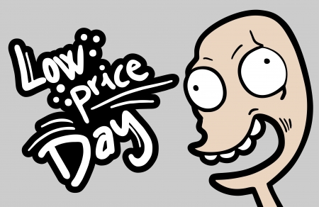 low price: Low price funny face Illustration