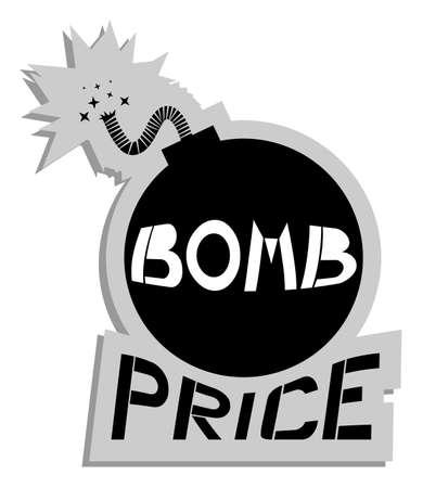 Bomb price Stock Vector - 18887132