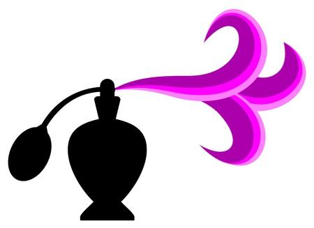 女性の香水  イラスト・ベクター素材