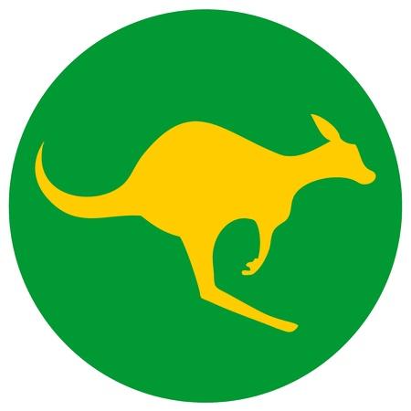 Creative kangaroo australia sticker Vector