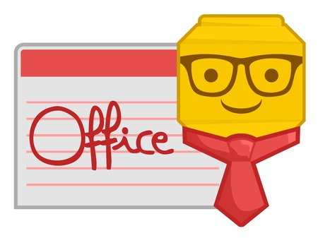 Smile office man Vector