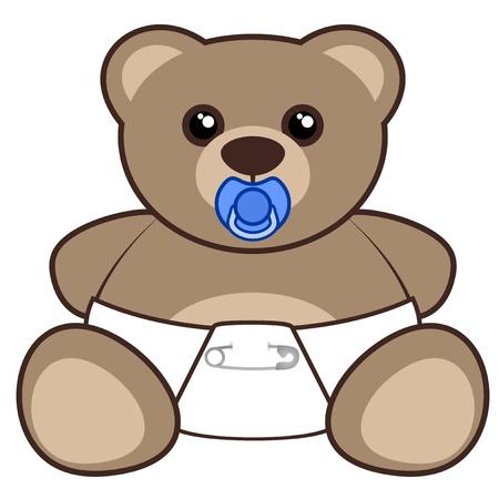 expressive style: Nice baby bear