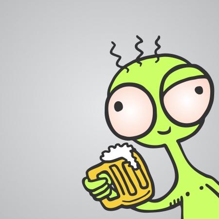 Happy monster beer Vector