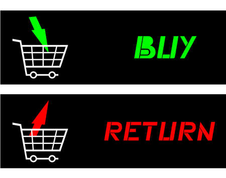 Buy and return Stock Vector - 19003839
