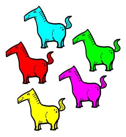 a faction: Color horses