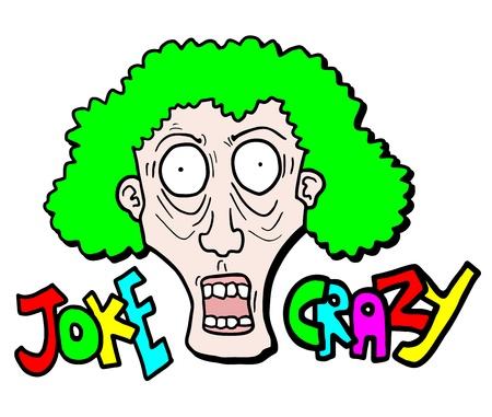 Color crazy joke Stock Vector - 18970583