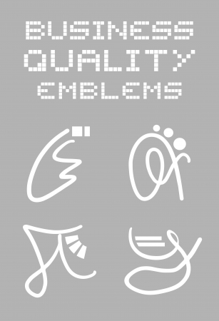 booming: Quality symbols Illustration
