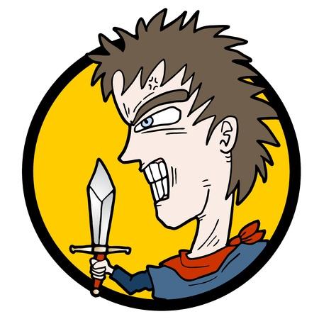 Sword man Vector