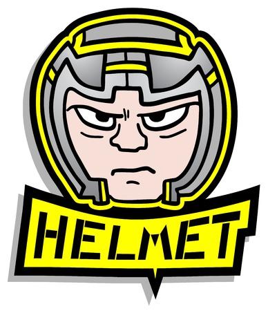 Security helmet Vector