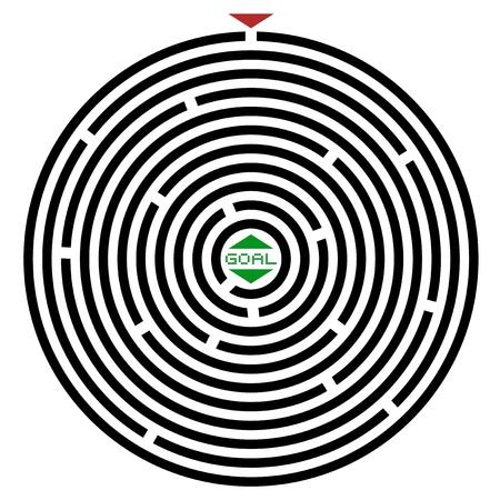 Circle maze Stock Vector - 18967213