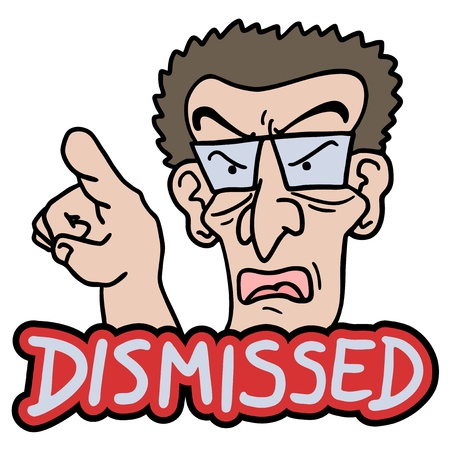 Dismissed message Stock Vector - 19200730