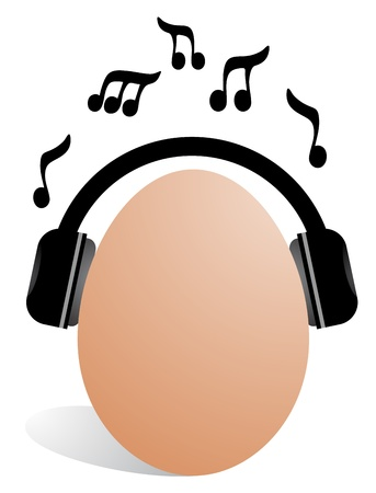 Music egg Vector