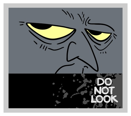Do not look face expression Vector