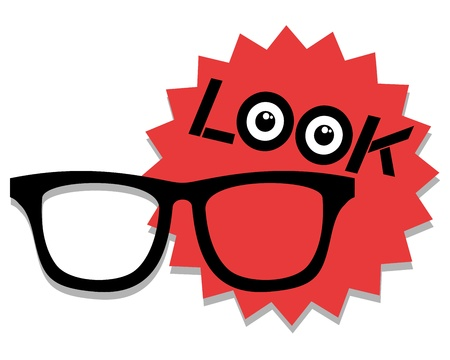 Look vision glasses Stock Vector - 19135117