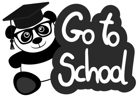 Go to school message Vector