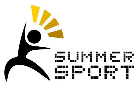Summer sport icon