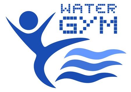 water logo: Water gym logo