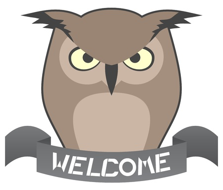 Welcome owl message Vector
