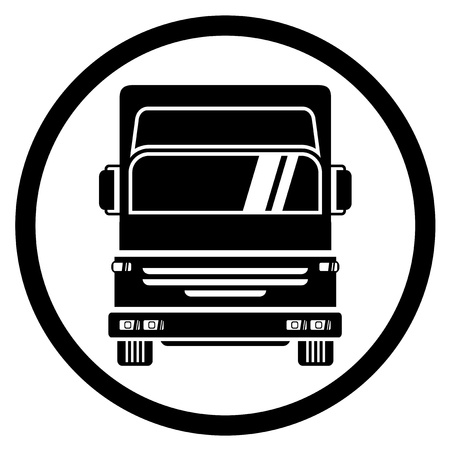 lkw stra�e: Truck icon Illustration