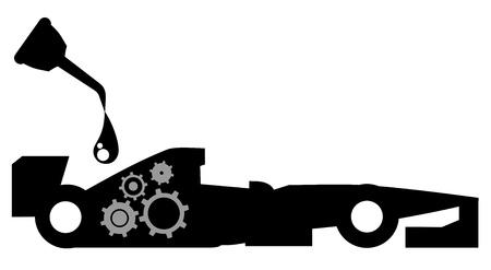 cruet: Racing lubricant Illustration