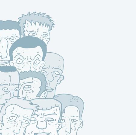 expressive style: Team friends cartoon