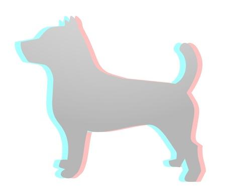 dimensinal: Art dog Illustration