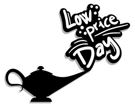 low price: Basso giorno prezzo Vettoriali