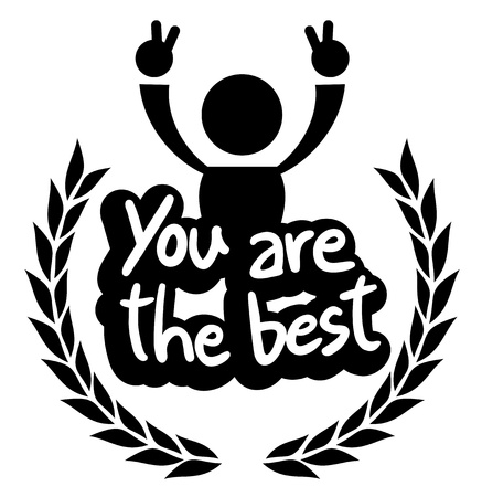 You are the best emblem Stock Vector - 19270320