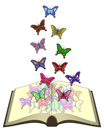 Butterflies color book Vector