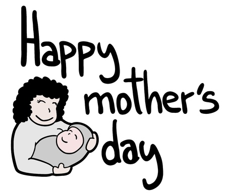 upscale: Happy mother Illustration