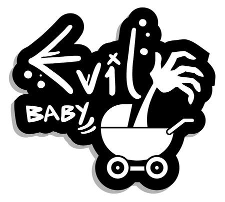 Evil baby Vector