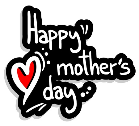 fun day: Mother´s day symbol Illustration