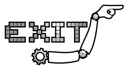 Tech exit symbol Stock Vector - 19453118