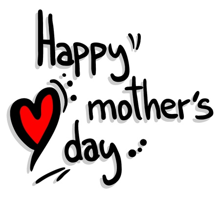 upscale: Happy mother�s day Illustration