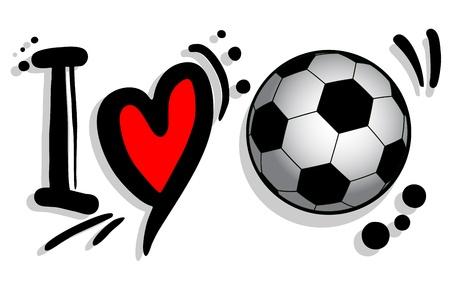 day saint valentin: I love soccer
