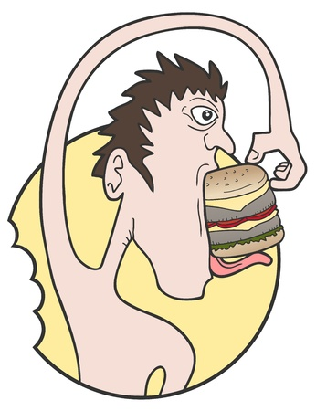 Hungry comedy man Vector