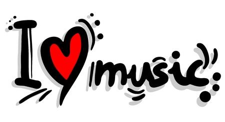 I love music Vector