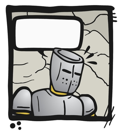 Armor comic Vector