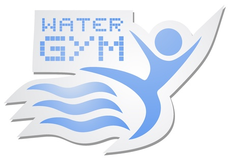Water gym sticker Vector