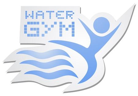 Water gym sticker Vector