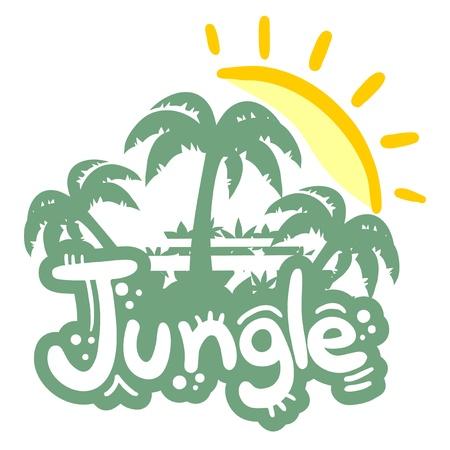 Jungle sticker Vector