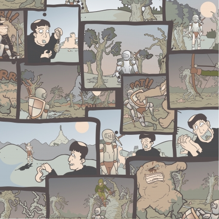 expressive style: Art comic wallpaper